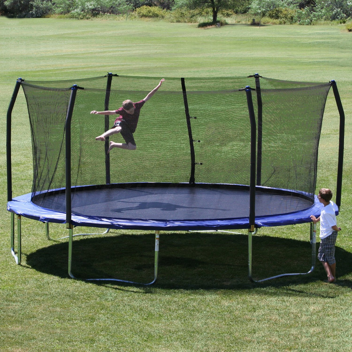 Skywalker Trampolines Green 16 Foot Oval Trampoline With: The Best Trampoline Reviews Of 2015 @ Trampoline101.Com
